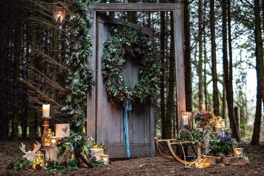 Winter woodland wedding styling ideas, image credit Photography by Chantel (19)