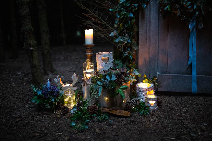Winter woodland wedding styling ideas, image credit Photography by Chantel (21)