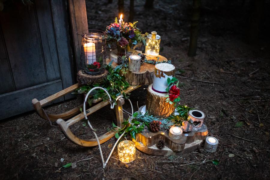 Winter woodland wedding styling ideas, image credit Photography by Chantel (22)