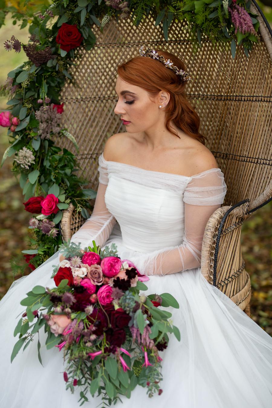 Winter woodland wedding styling ideas, image credit Photography by Chantel (24)