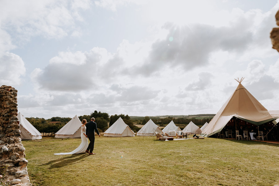 A stunning tipi wedding at Barn Drift photographed by Esther Wild