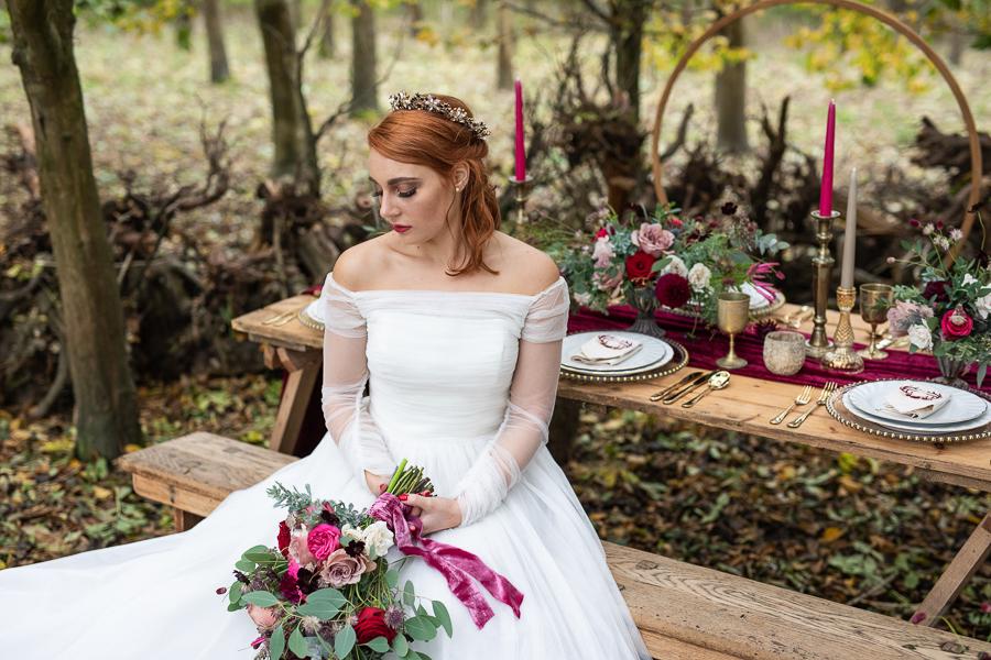 Winter woodland wedding styling ideas, image credit Photography by Chantel (30)