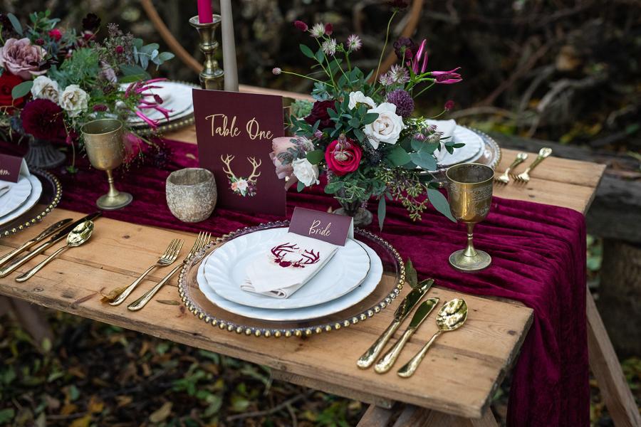 Winter woodland wedding styling ideas, image credit Photography by Chantel (32)