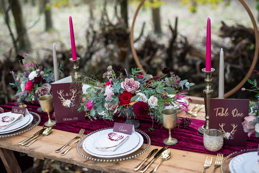 Winter woodland wedding styling ideas, image credit Photography by Chantel (34)