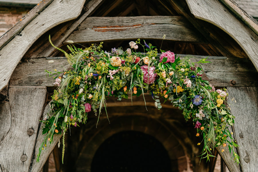 Fabulous florals for an amazing English wedding at Dewsall Court with Jarek Lepak Photography (10)
