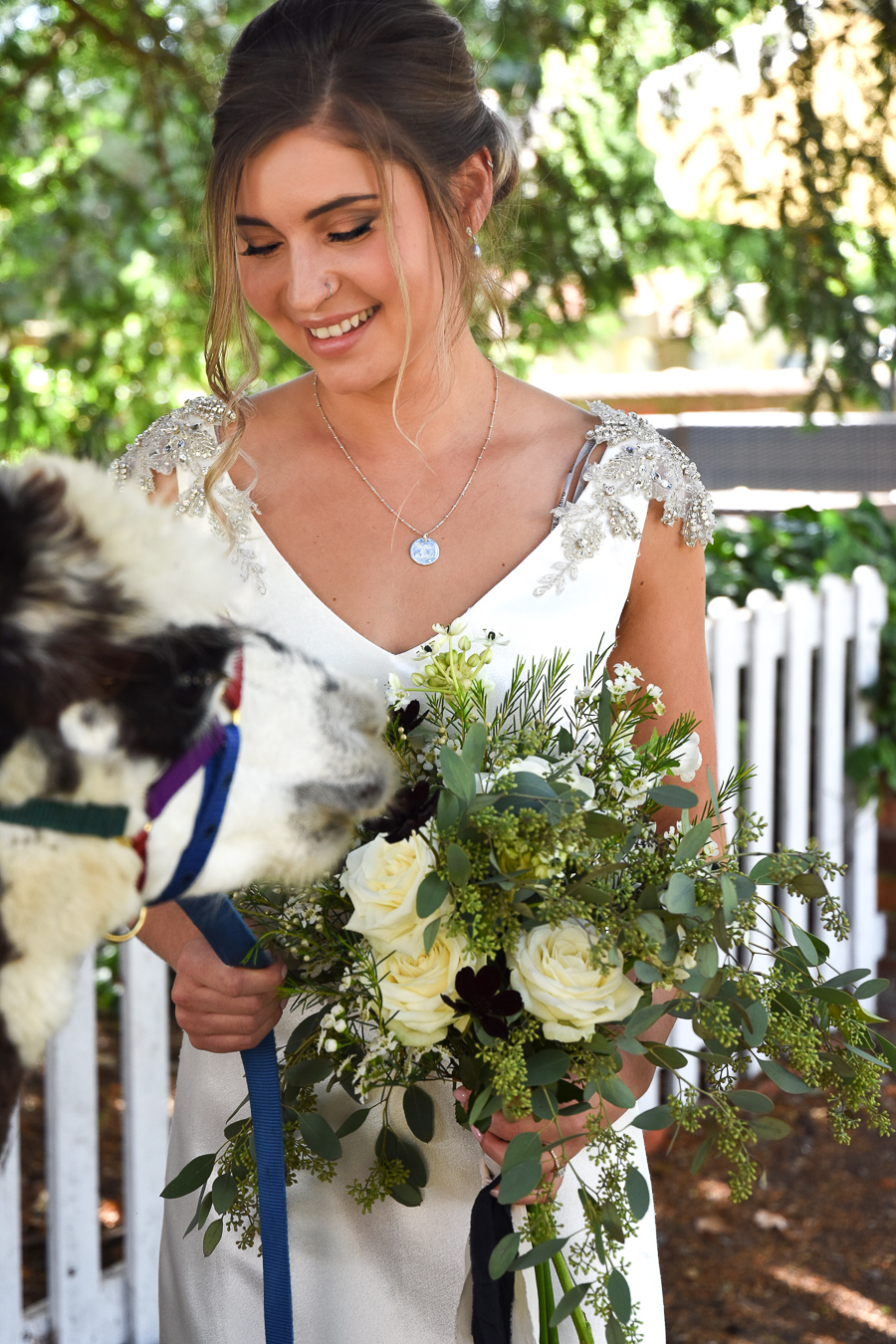 White & green luxe wedding inspiration with cheeky alpacas, image credit Lorna Richerby Photography (7)