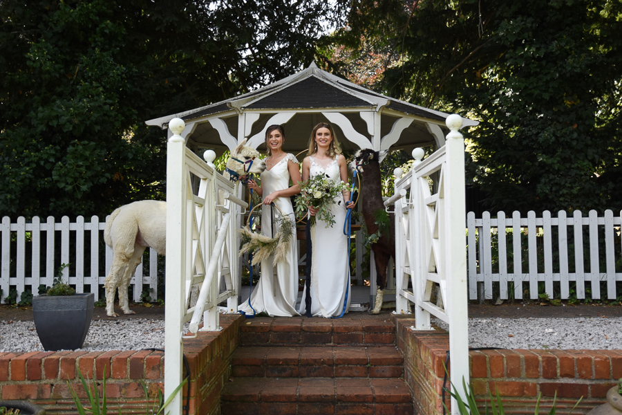 White & green luxe wedding inspiration with cheeky alpacas, image credit Lorna Richerby Photography (9)