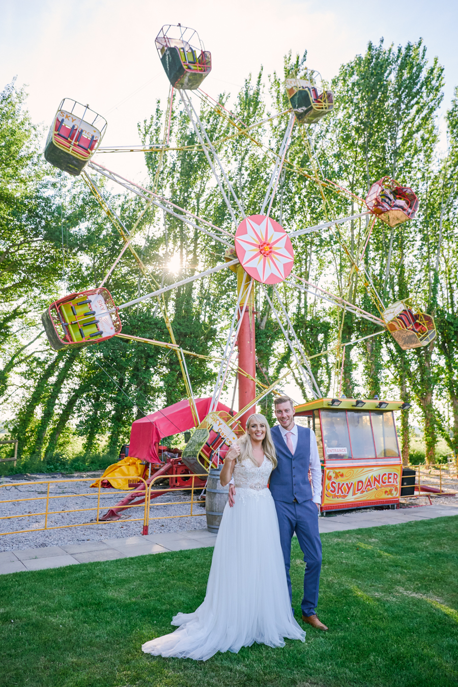 Penny and Ben's funfair wedding at Marleybrook with Rose Images (40)