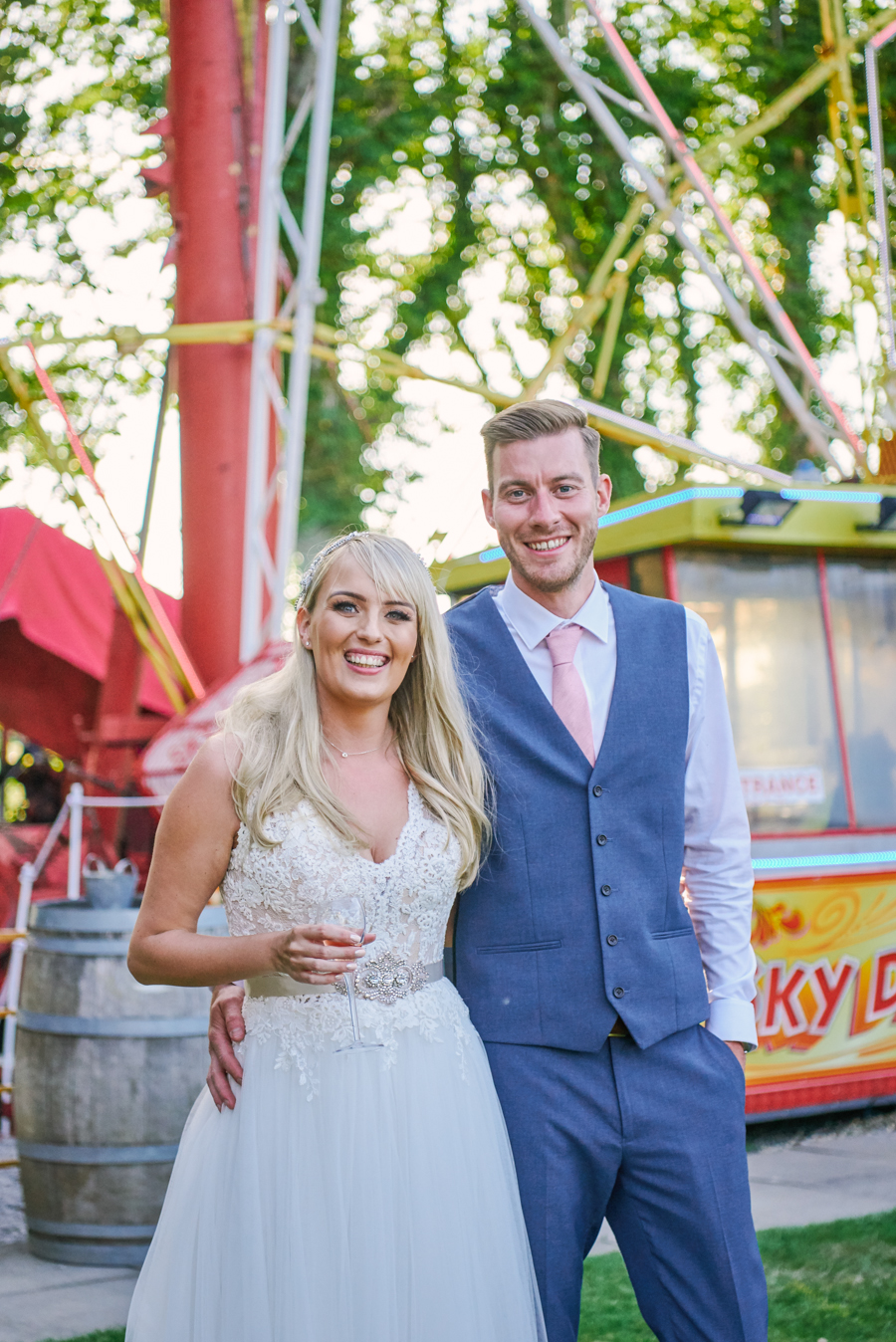Penny and Ben's funfair wedding at Marleybrook with Rose Images (41)