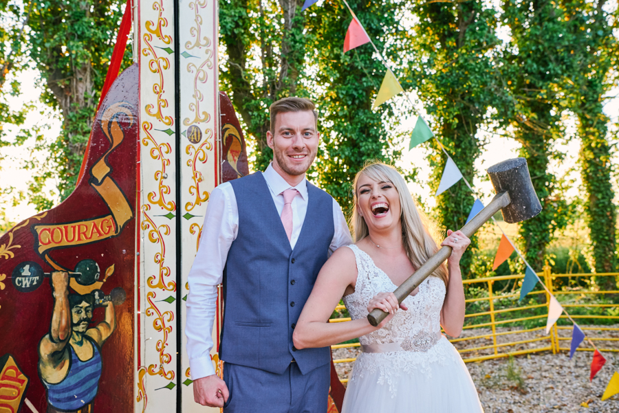 Penny and Ben's funfair wedding at Marleybrook with Rose Images (48)
