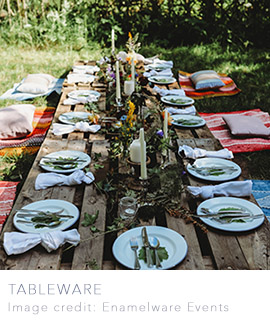 Tableware for weddings