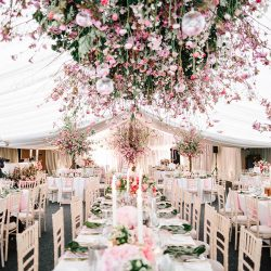 A cherry blossom explosion for Maryanne & Adam's beautiful Chippenham Park Hall wedding, with images by Nick + Maria