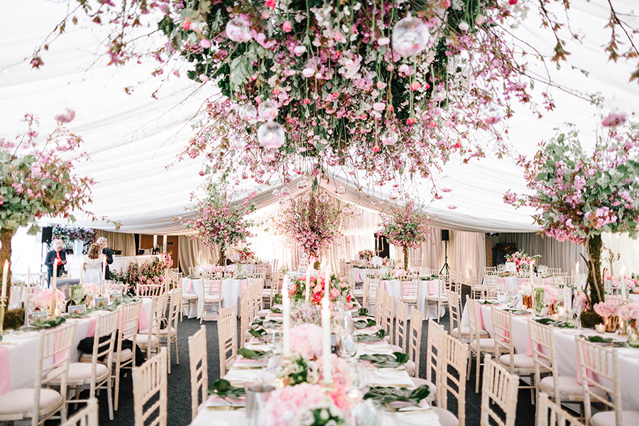 Incredible florals for Maryanne & Adam's beautiful Chippenham Park Hall wedding, with images by Nick + Maria (25)