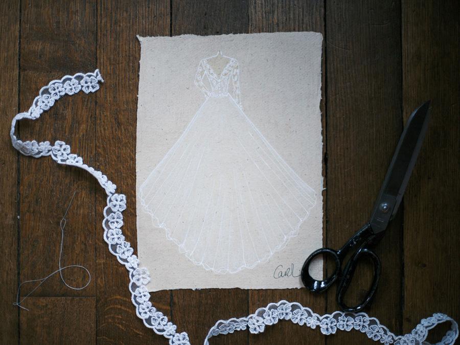 Bespoke bridal couture by Caroline Arthur, image credit Alexander J Collins at Ham House (7)