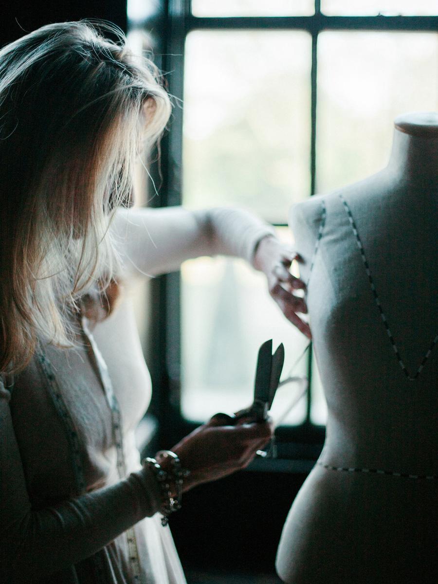 Bespoke bridal couture by Caroline Arthur, image credit Alexander J Collins at Ham House (8)