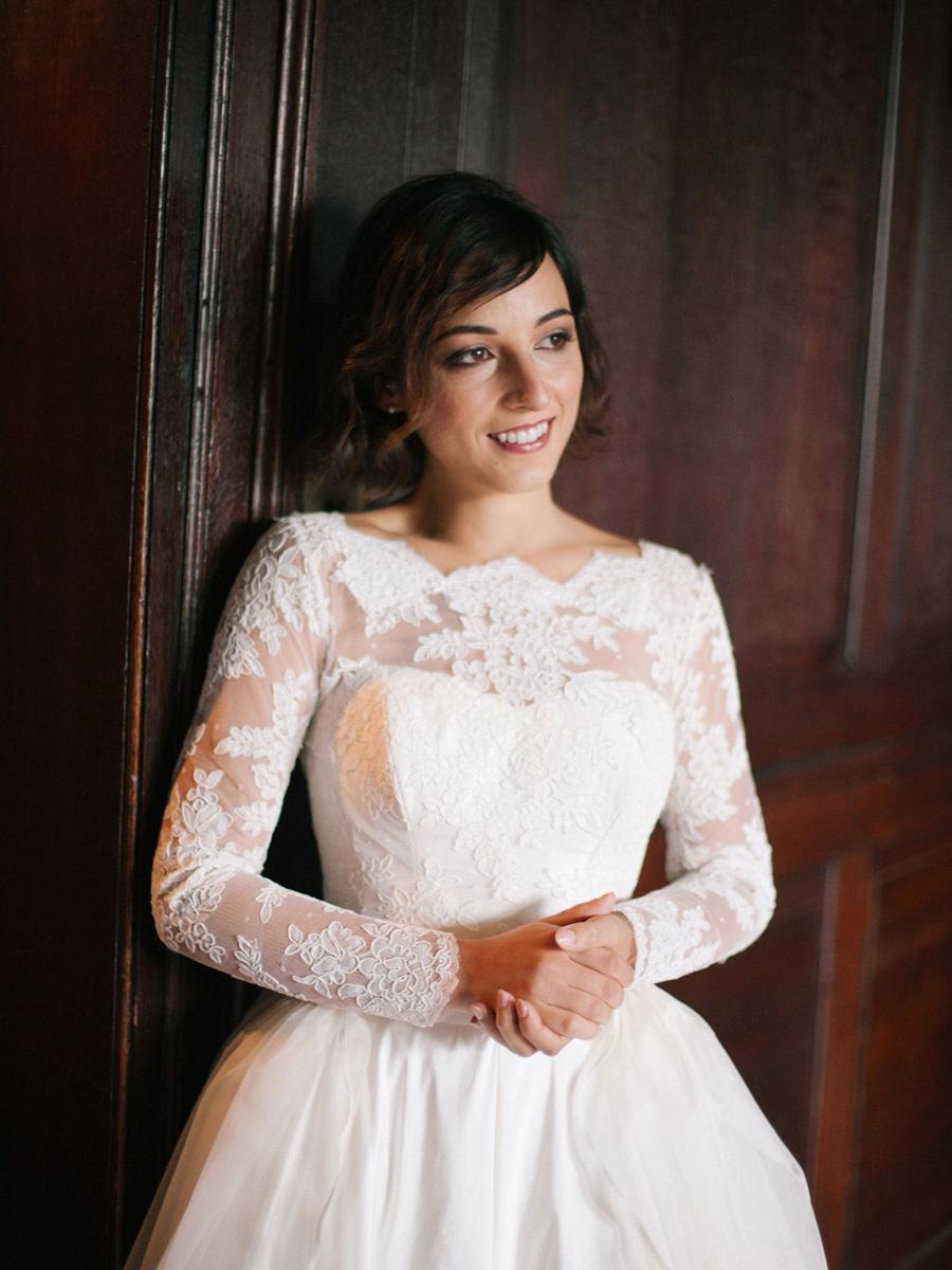 Bespoke bridal couture by Caroline Arthur, image credit Alexander J Collins at Ham House (9)