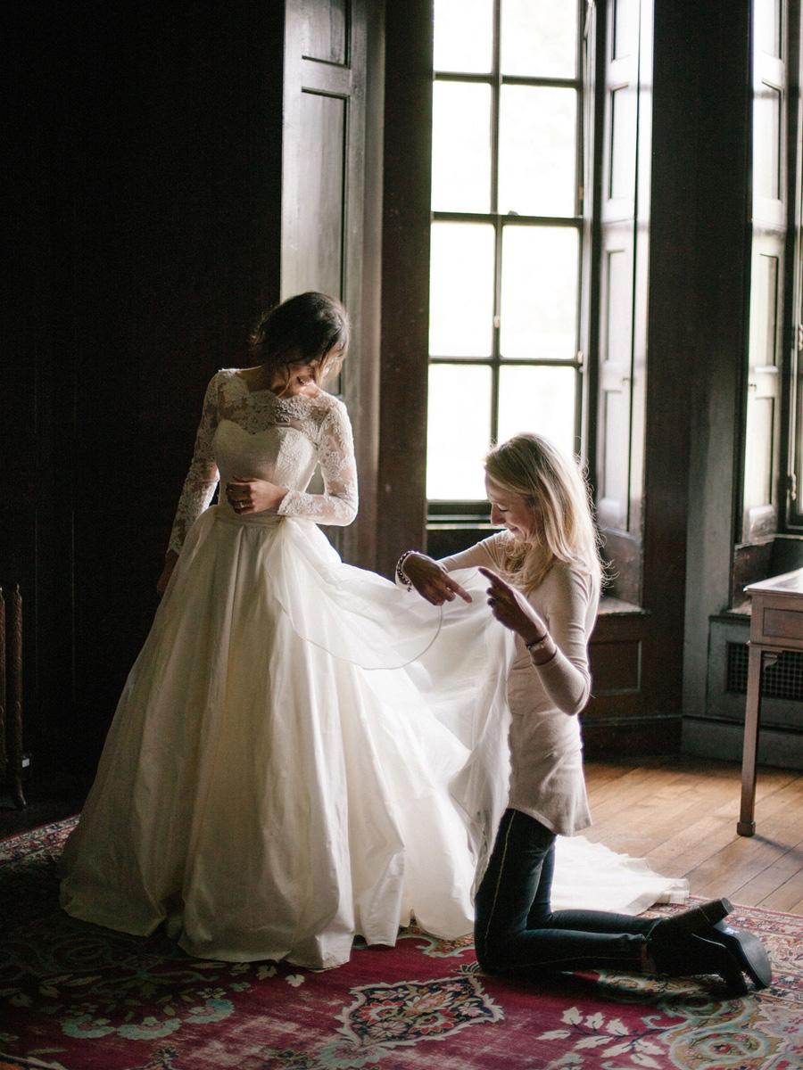 Bespoke bridal couture by Caroline Arthur, image credit Alexander J Collins at Ham House (10)