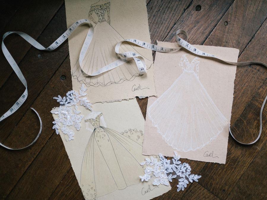 Bespoke bridal couture by Caroline Arthur, image credit Alexander J Collins at Ham House (14)