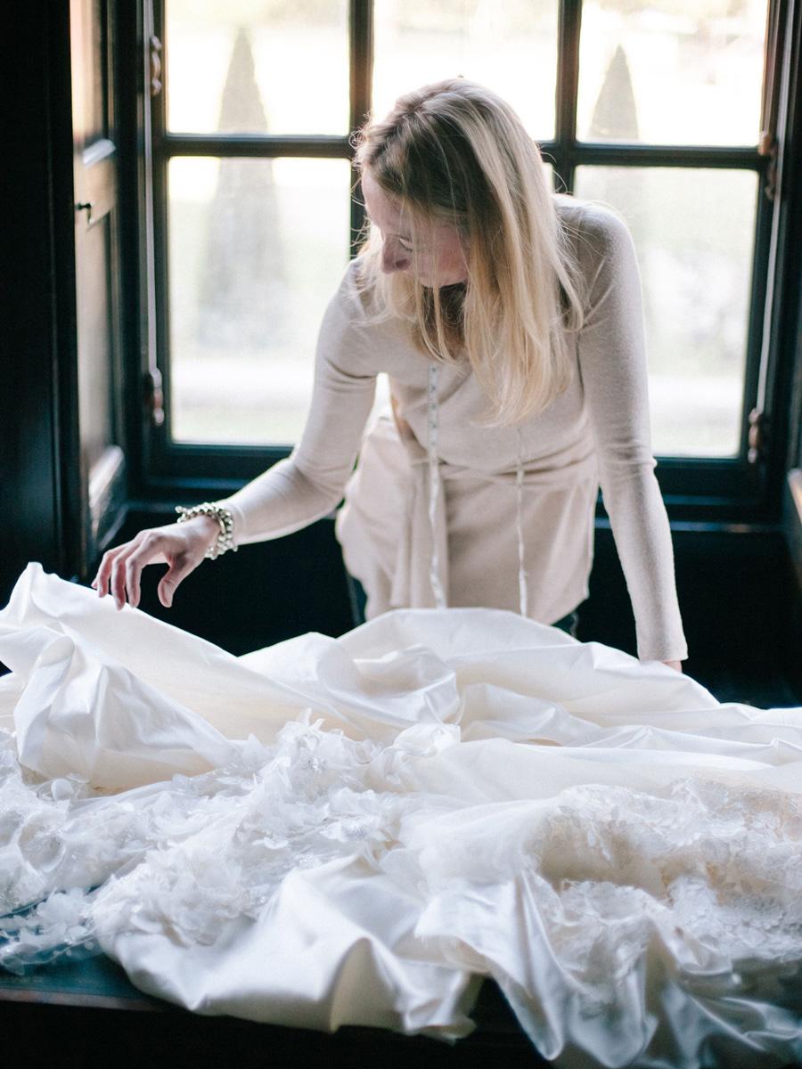 Bespoke bridal couture by Caroline Arthur, image credit Alexander J Collins at Ham House (15)