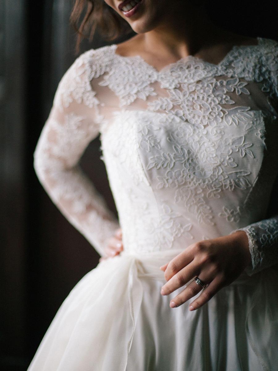 Bespoke bridal couture by Caroline Arthur, image credit Alexander J Collins at Ham House (17)