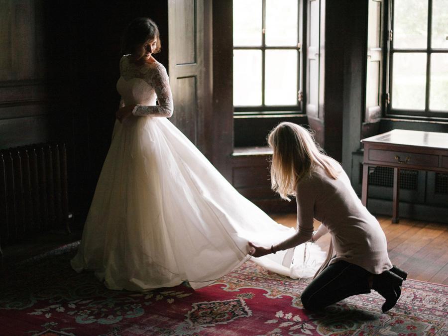 Bespoke bridal couture by Caroline Arthur, image credit Alexander J Collins at Ham House (18)