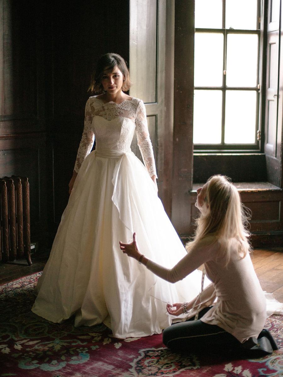 Bespoke bridal couture by Caroline Arthur, image credit Alexander J Collins at Ham House (20)