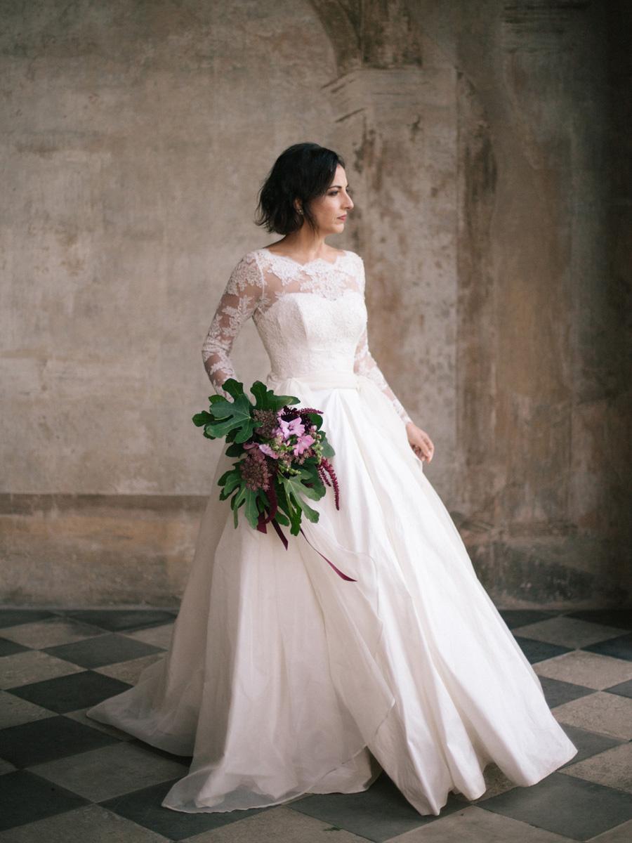 Bespoke bridal couture by Caroline Arthur, image credit Alexander J Collins at Ham House (30)