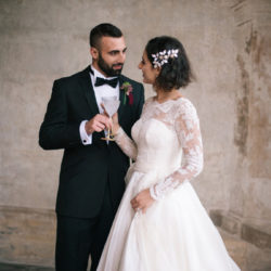 Beautifully bespoke: a breathtaking wedding dress and black tie dream photoshoot