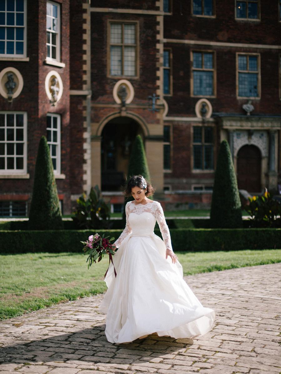 Bespoke bridal couture by Caroline Arthur, image credit Alexander J Collins at Ham House (34)