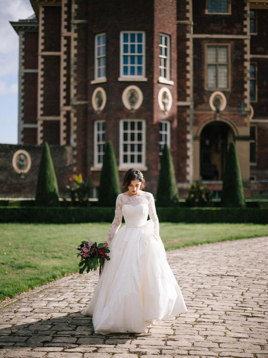 Bespoke bridal couture by Caroline Arthur, image credit Alexander J Collins at Ham House (35)