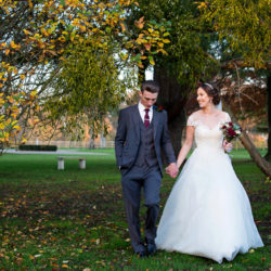 Glorious winter sun for Wendy & Rich's Eastington Park wedding, with Martin Dabek Photography