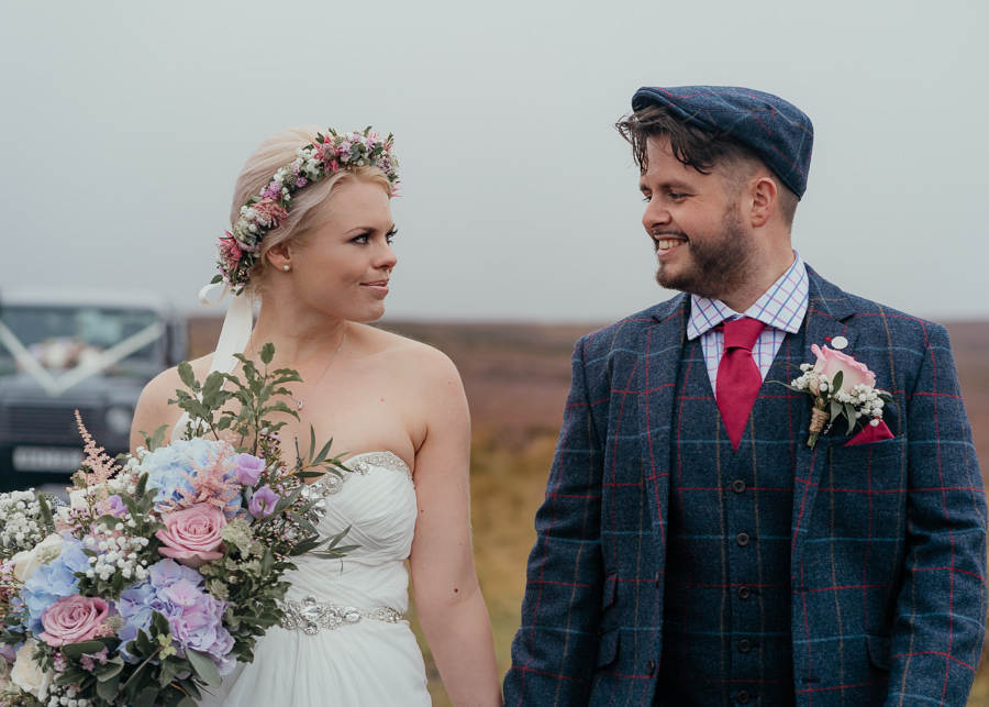 Rural English wedding style at Danby Castle, photo credit Rosanna Lilly Photography (28)