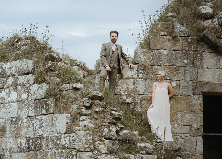 Rural English wedding style at Danby Castle, photo credit Rosanna Lilly Photography (15)