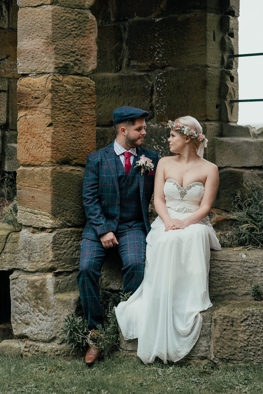 Rural English wedding style at Danby Castle, photo credit Rosanna Lilly Photography (32)