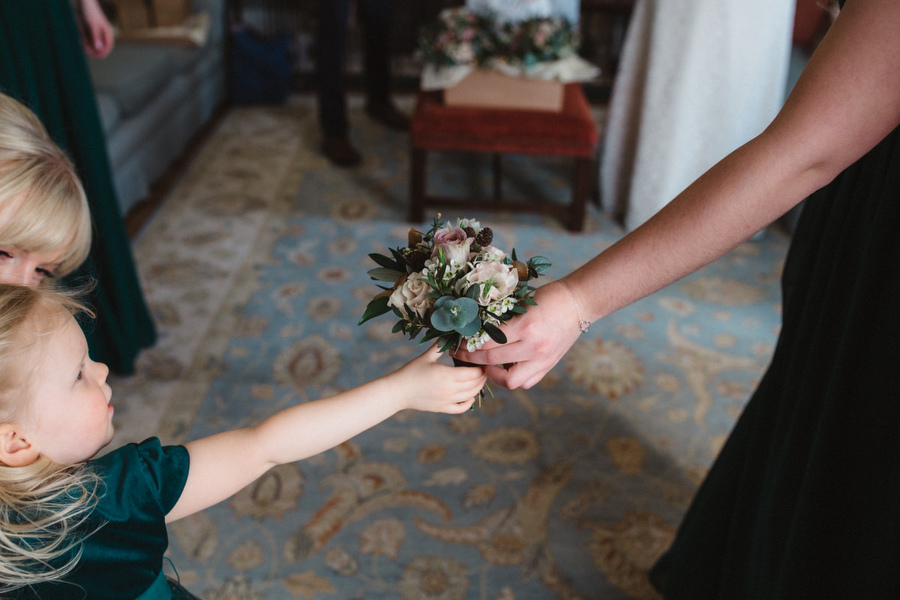 Dark green and gold for Martha & Phil's glorious Bruisyard wedding, with Emily Tyler Photography (11)