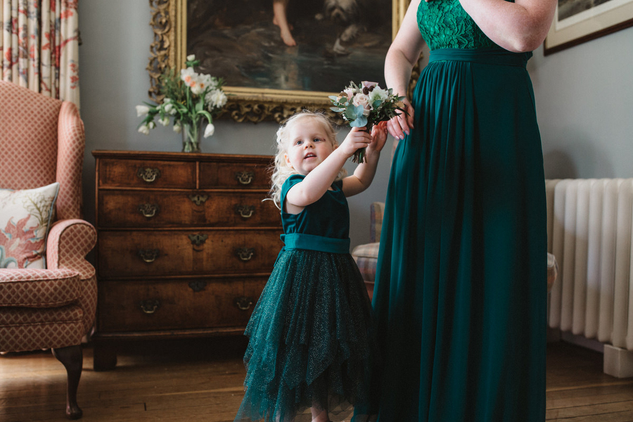 Dark green and gold for Martha & Phil's glorious Bruisyard wedding, with Emily Tyler Photography (12)