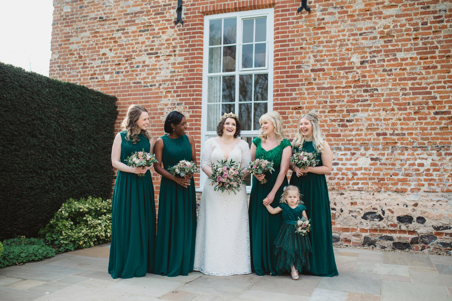 Dark green and gold for Martha & Phil's glorious Bruisyard wedding, with Emily Tyler Photography (13)