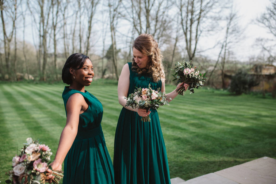 Dark green and gold for Martha & Phil's glorious Bruisyard wedding, with Emily Tyler Photography (16)