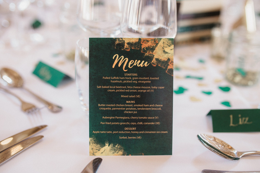 Dark green and gold for Martha & Phil's glorious Bruisyard wedding, with Emily Tyler Photography (20)