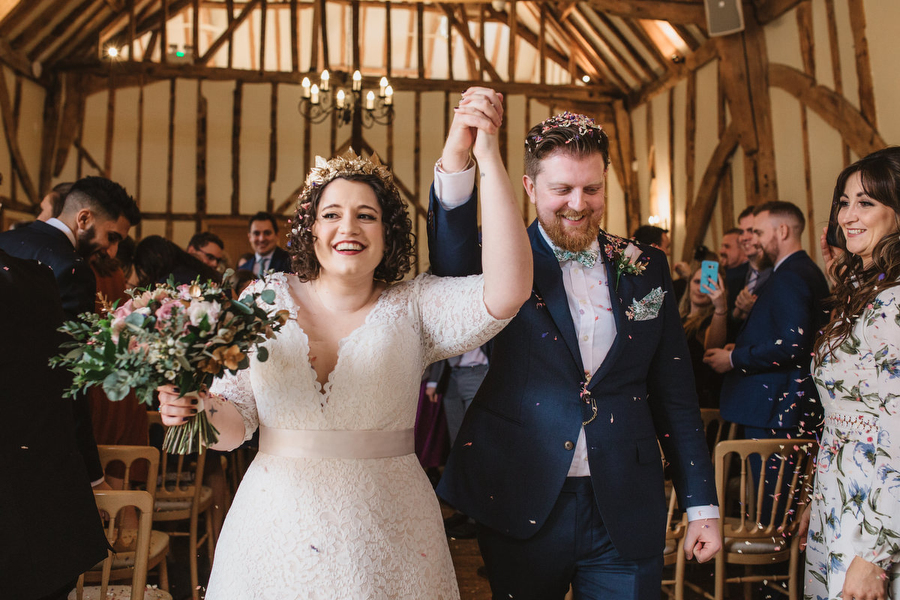 Dark green and gold for Martha & Phil's glorious Bruisyard wedding, with Emily Tyler Photography (24)