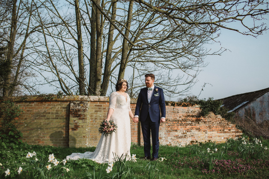 Dark green and gold for Martha & Phil's glorious Bruisyard wedding, with Emily Tyler Photography (29)