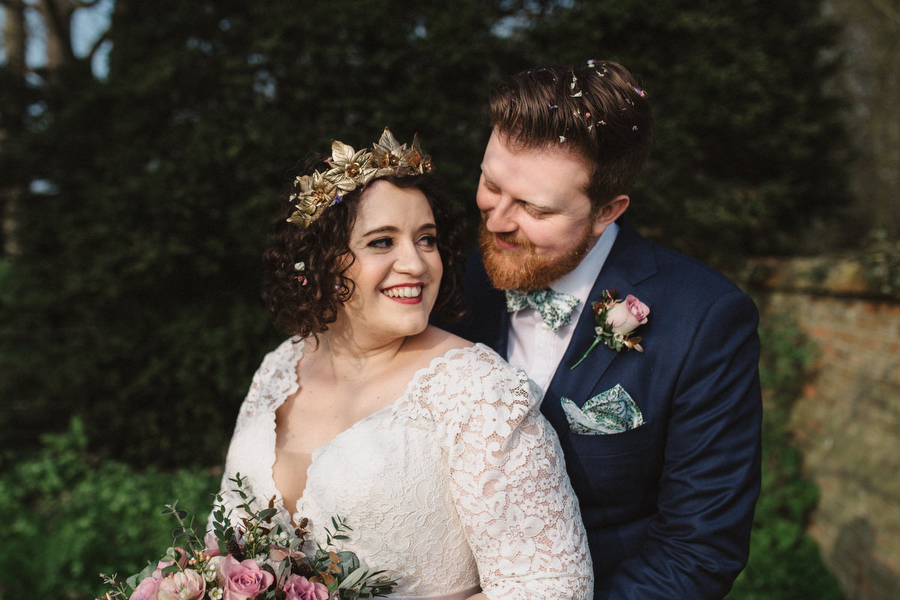 Dark green and gold for Martha & Phil's glorious Bruisyard wedding, with Emily Tyler Photography (31)