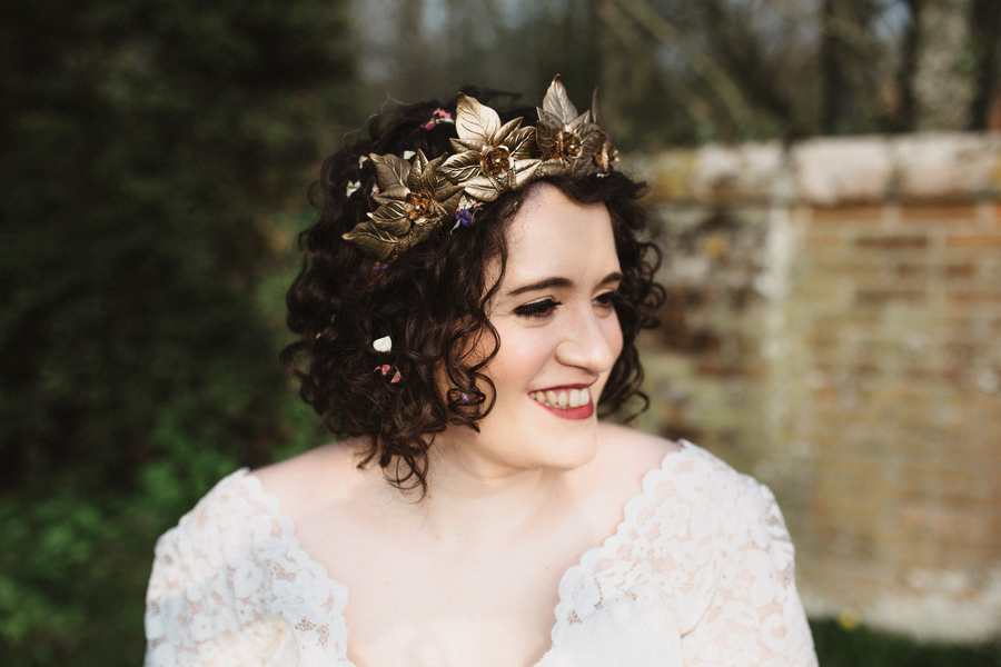 Dark green and gold for Martha & Phil's glorious Bruisyard wedding, with Emily Tyler Photography (32)