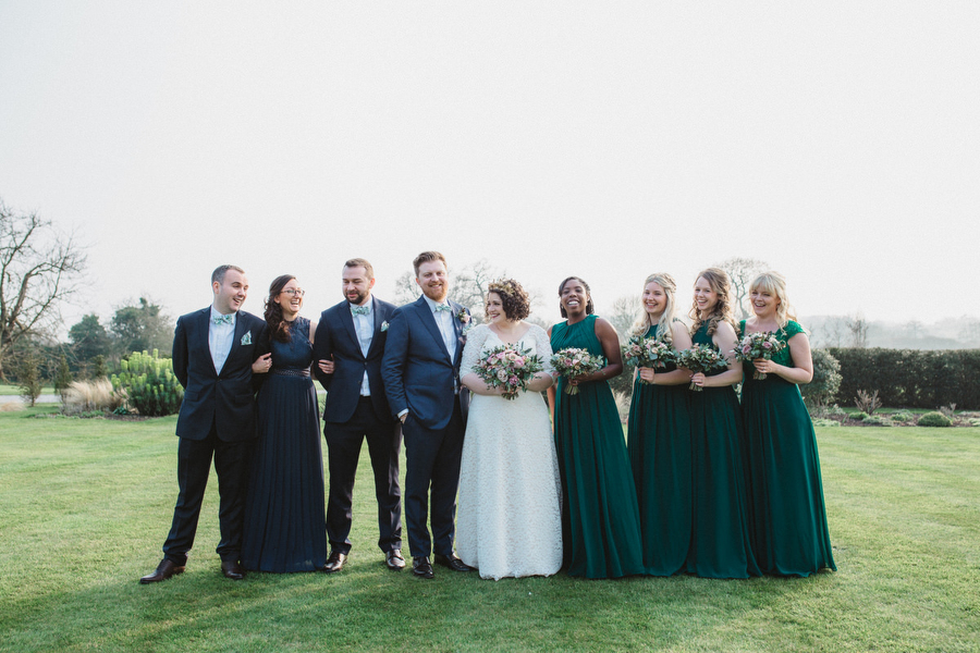 Dark green and gold for Martha & Phil's glorious Bruisyard wedding, with Emily Tyler Photography (34)