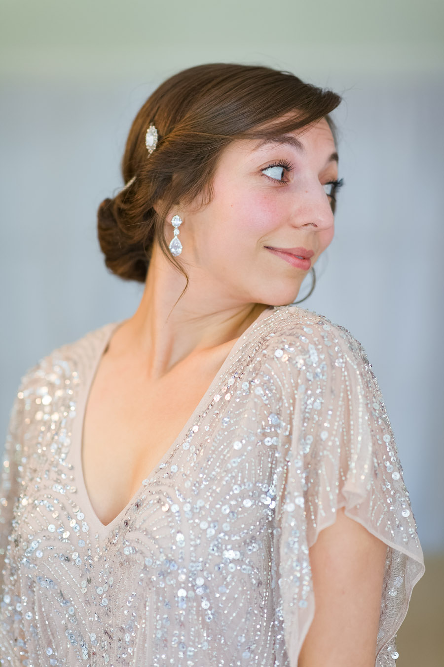 A Jenny Packham bride at The Plough at Leigh, with Terence Joseph Photography (4)
