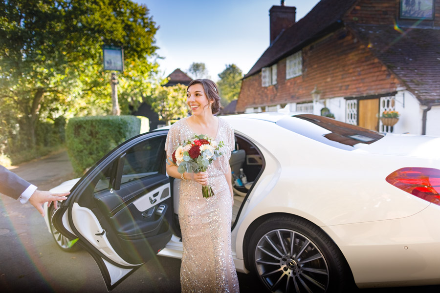 A Jenny Packham bride at The Plough at Leigh, with Terence Joseph Photography (5)