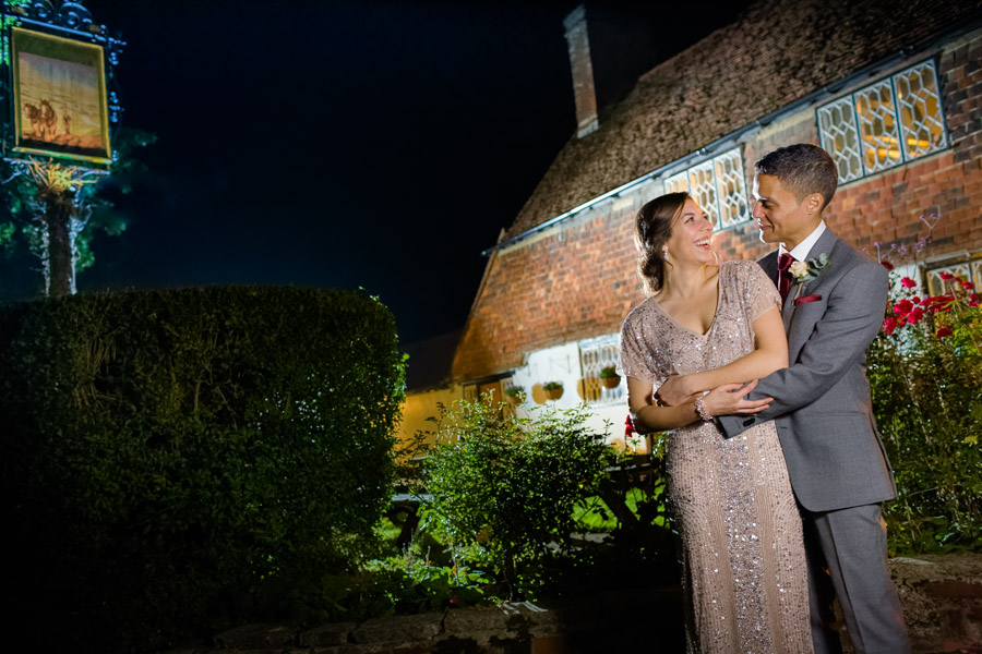 A Jenny Packham bride at The Plough at Leigh, with Terence Joseph Photography (25)