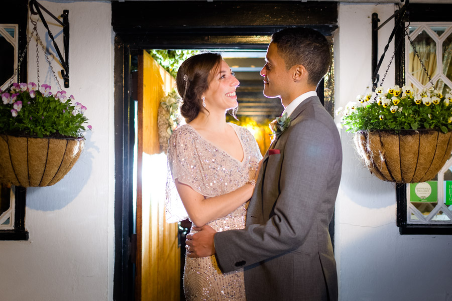 A Jenny Packham bride at The Plough at Leigh, with Terence Joseph Photography (26)