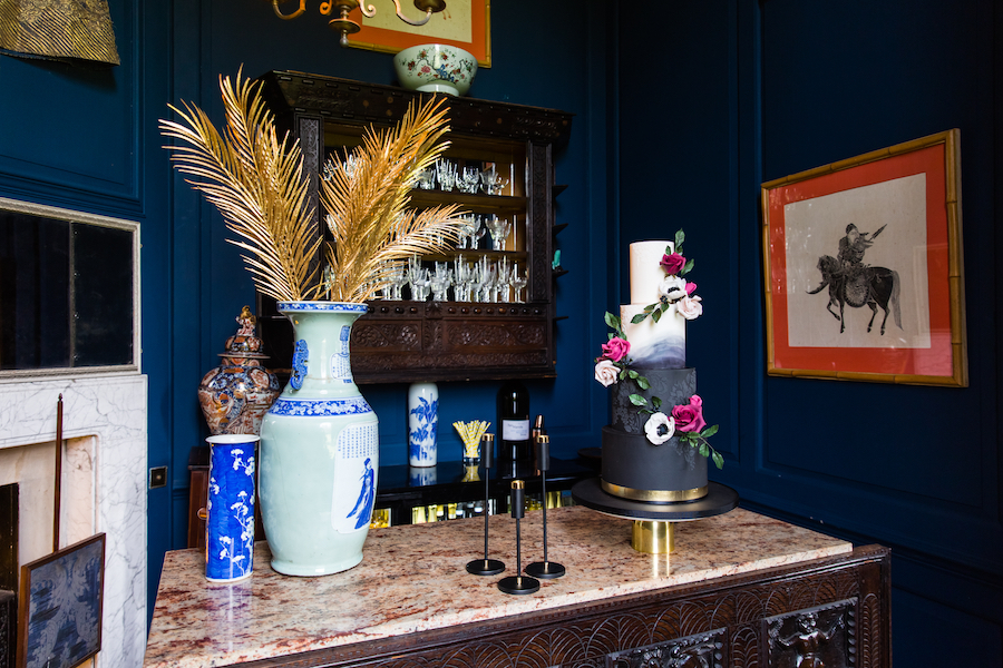 Midnight - dark blue and bold decadence from Glemham Hall, image credit Ayshea Goldberg Photography (15)