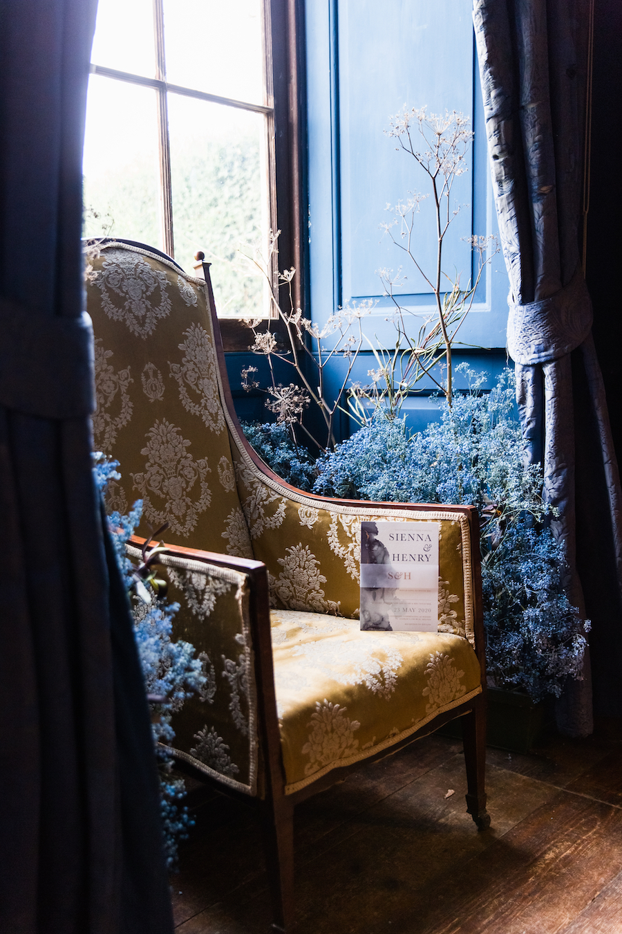 Midnight - dark blue and bold decadence from Glemham Hall, image credit Ayshea Goldberg Photography (18)